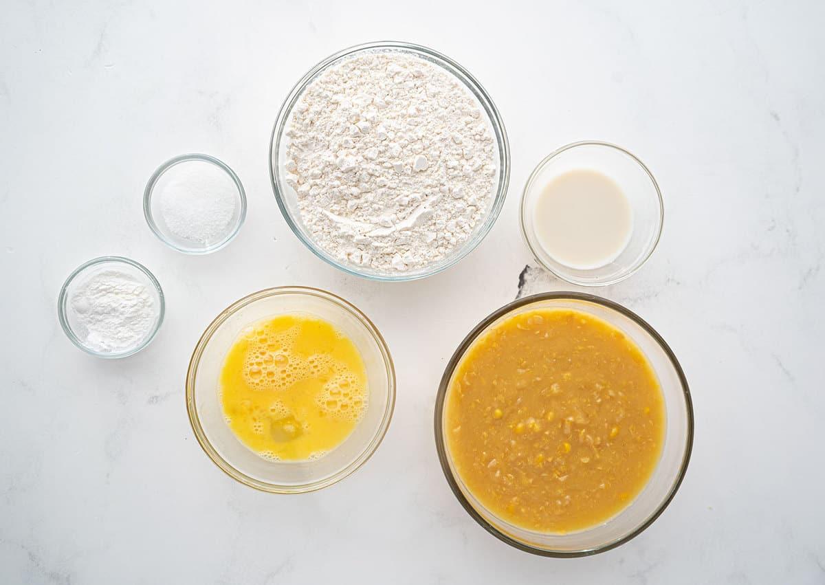 Corn Fritter ingredients
