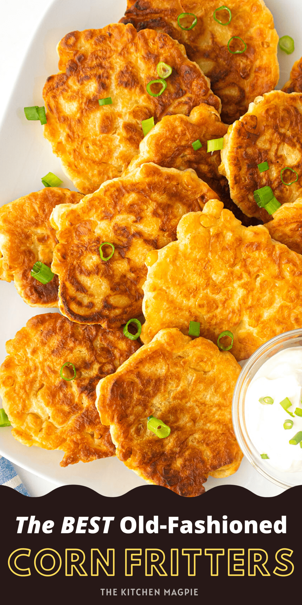 How to make the best corn fritters! Using creamed corn is the secret ingredient for the most flavorful corn fritters you'll ever make!