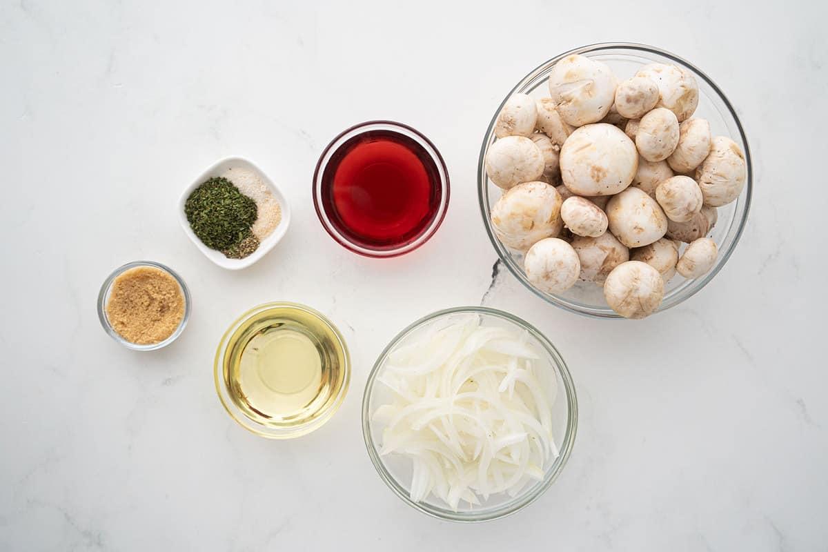 Marinated Mushroom ingredients