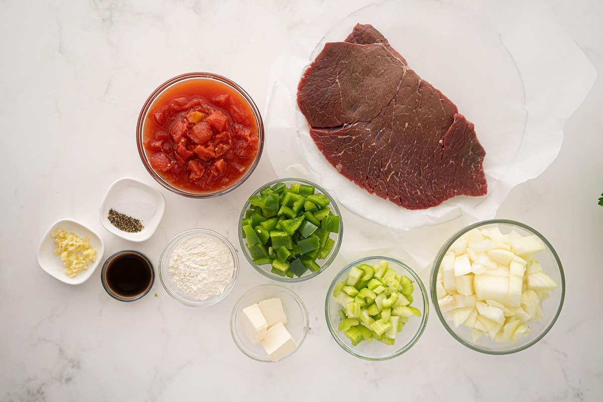 ingredients for Swiss Steak
