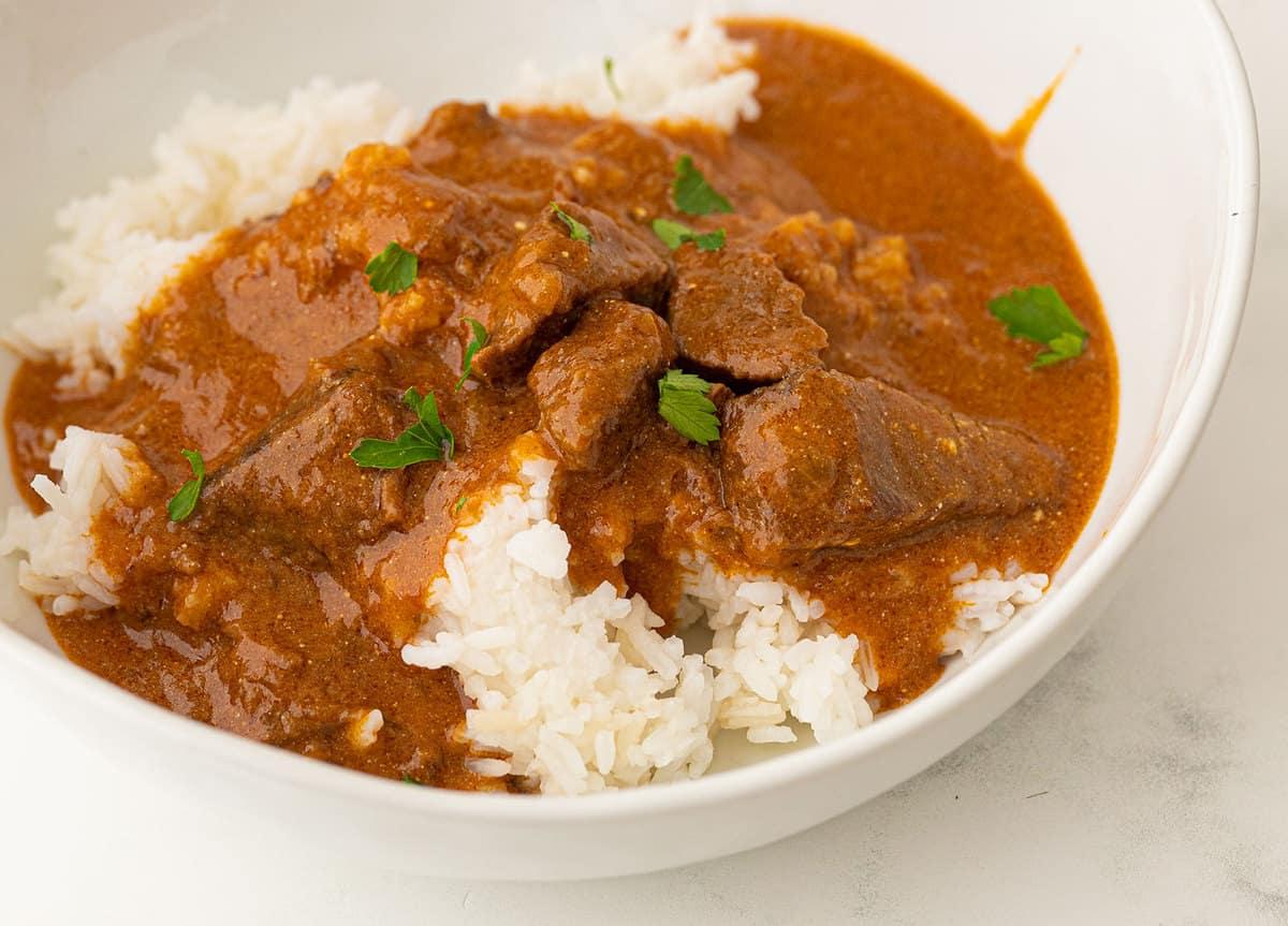Hungarian Goulash on white rice