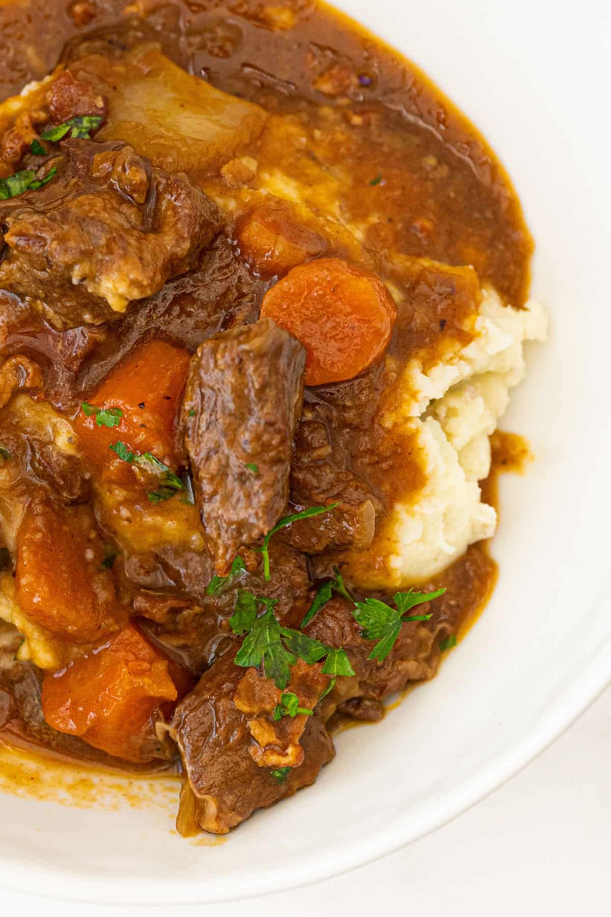 Guinness® Irish Stew on mashed potatoes