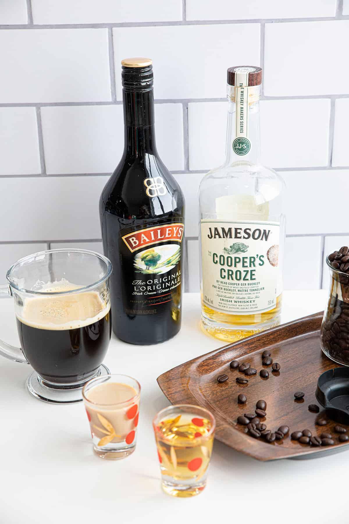 Ingredients for Irish Coffee