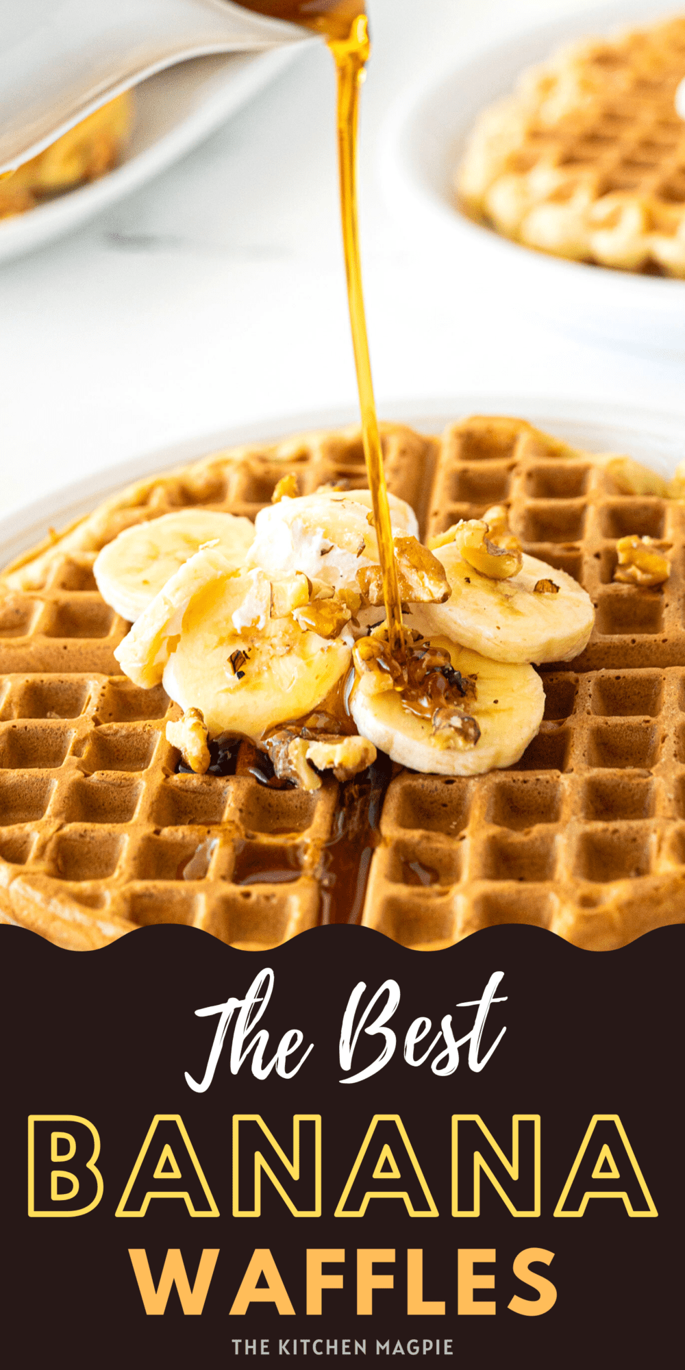These banana waffles are the perfect weekend treat! A great way to use up overripe bananas for a delicious breakfast that will thrill everyone!
