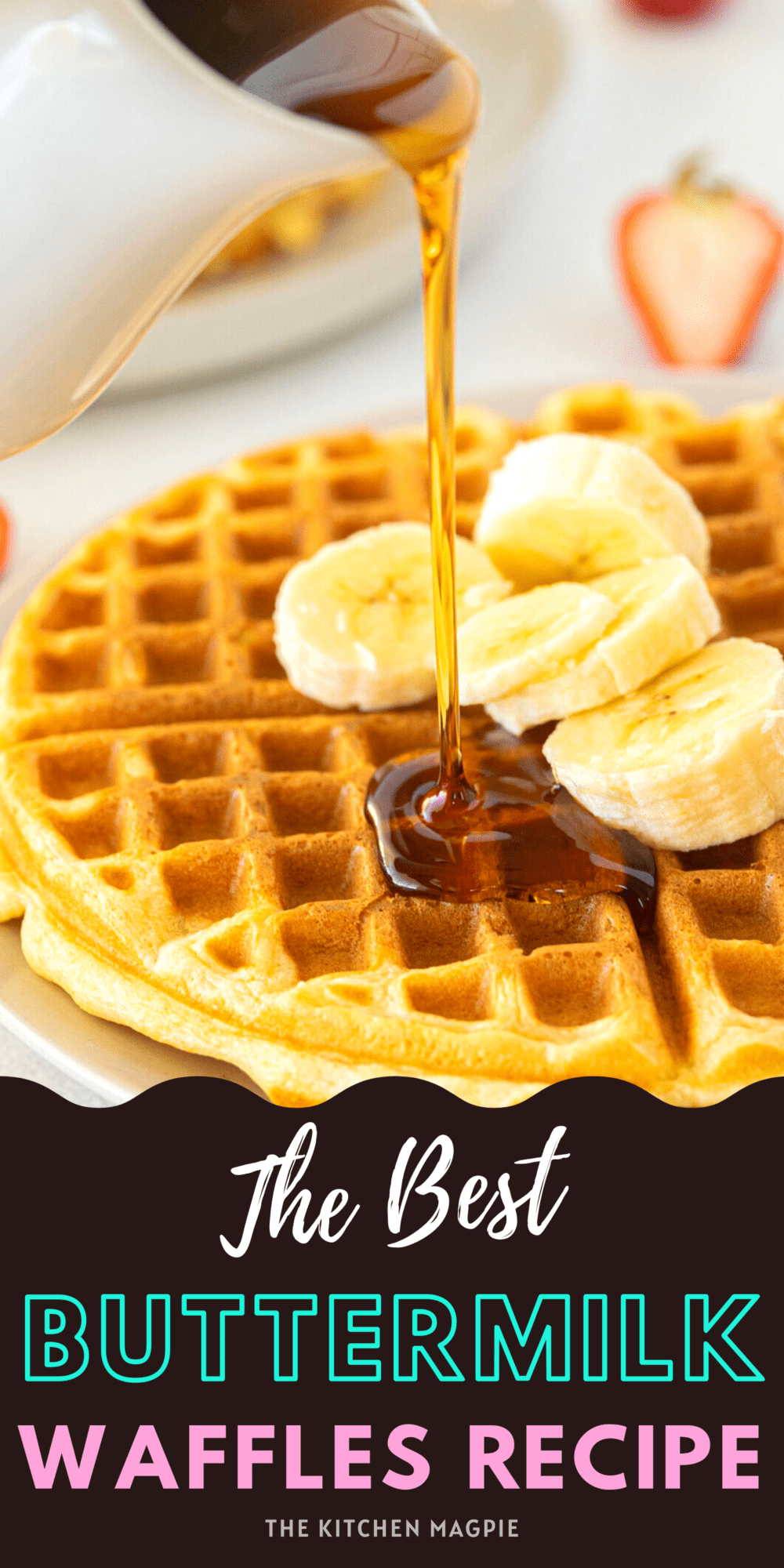 This classic buttermilk waffle recipe has stood the test of time, yielding fluffy, lightly sweetened waffles with that delicious buttermilk tang!