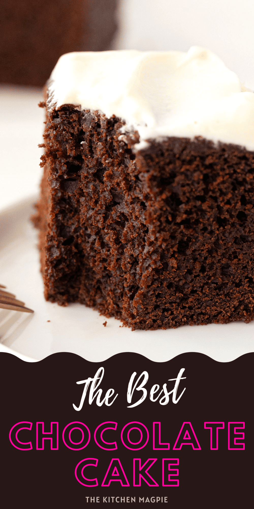 The perfect homemade chocolate cake! This chocolate cake recipe is easy to make and bakes up a perfect 9x9 pan of chocolatey, delicious, moist cake!