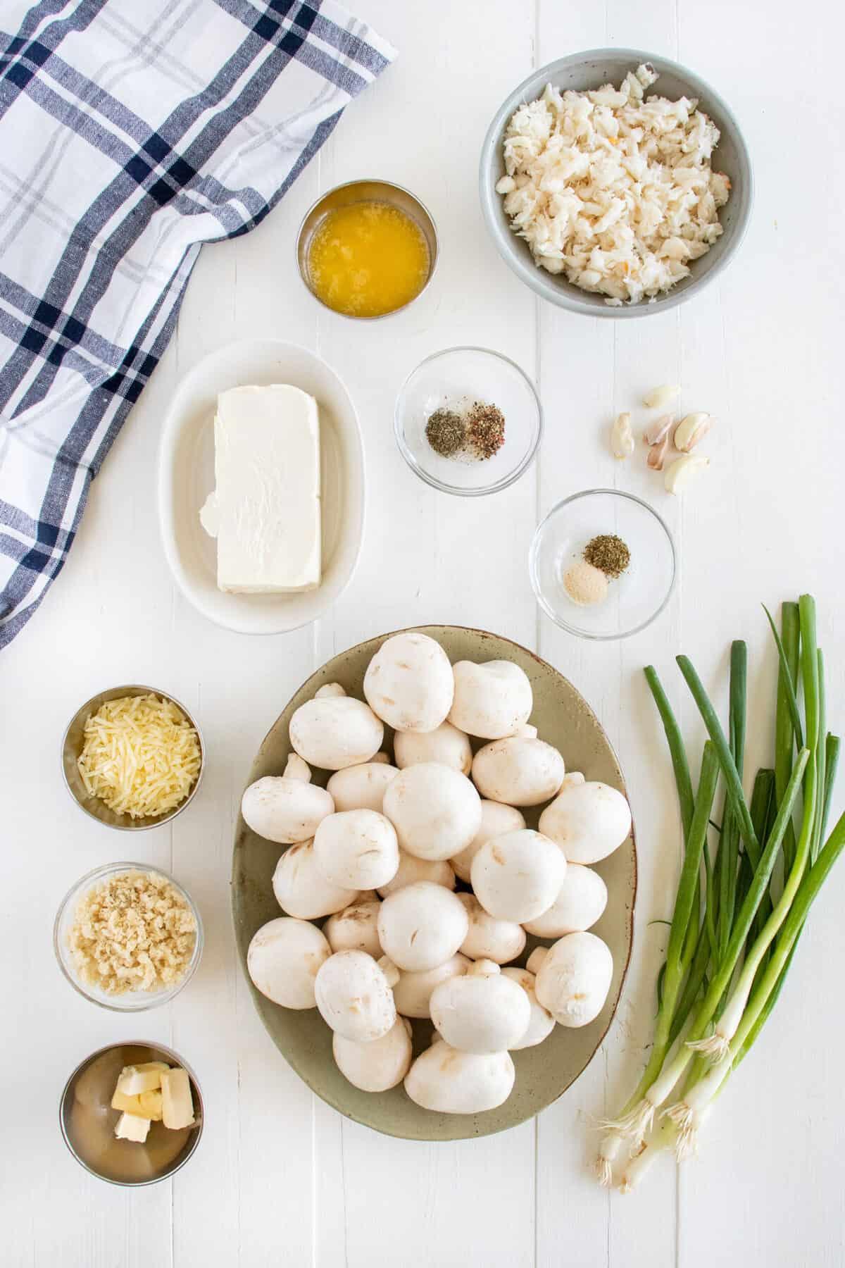 ingredients for crab stuffed mushrooms