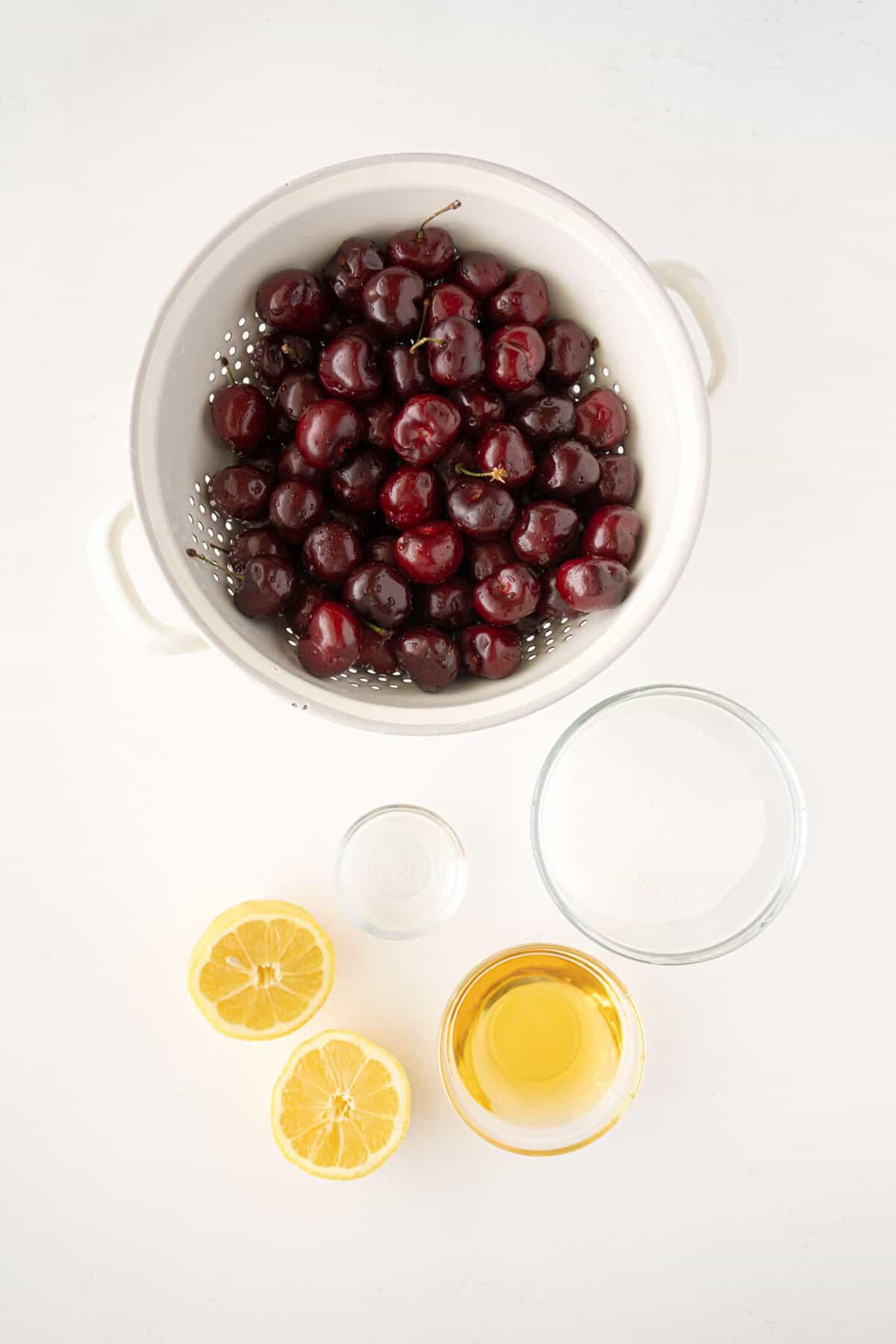ingredients for cherries jubilee