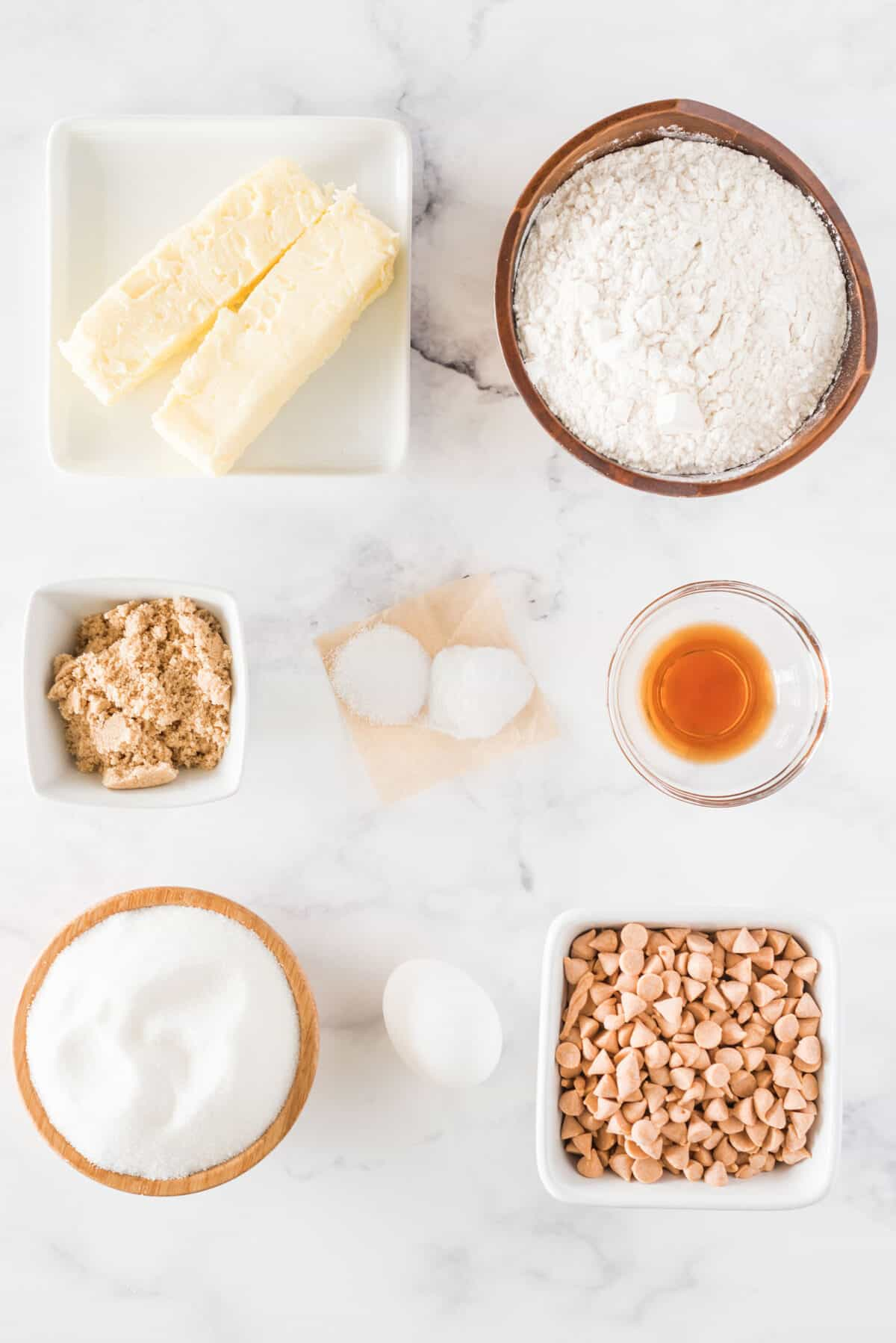 ingredients for butterscotch cookies
