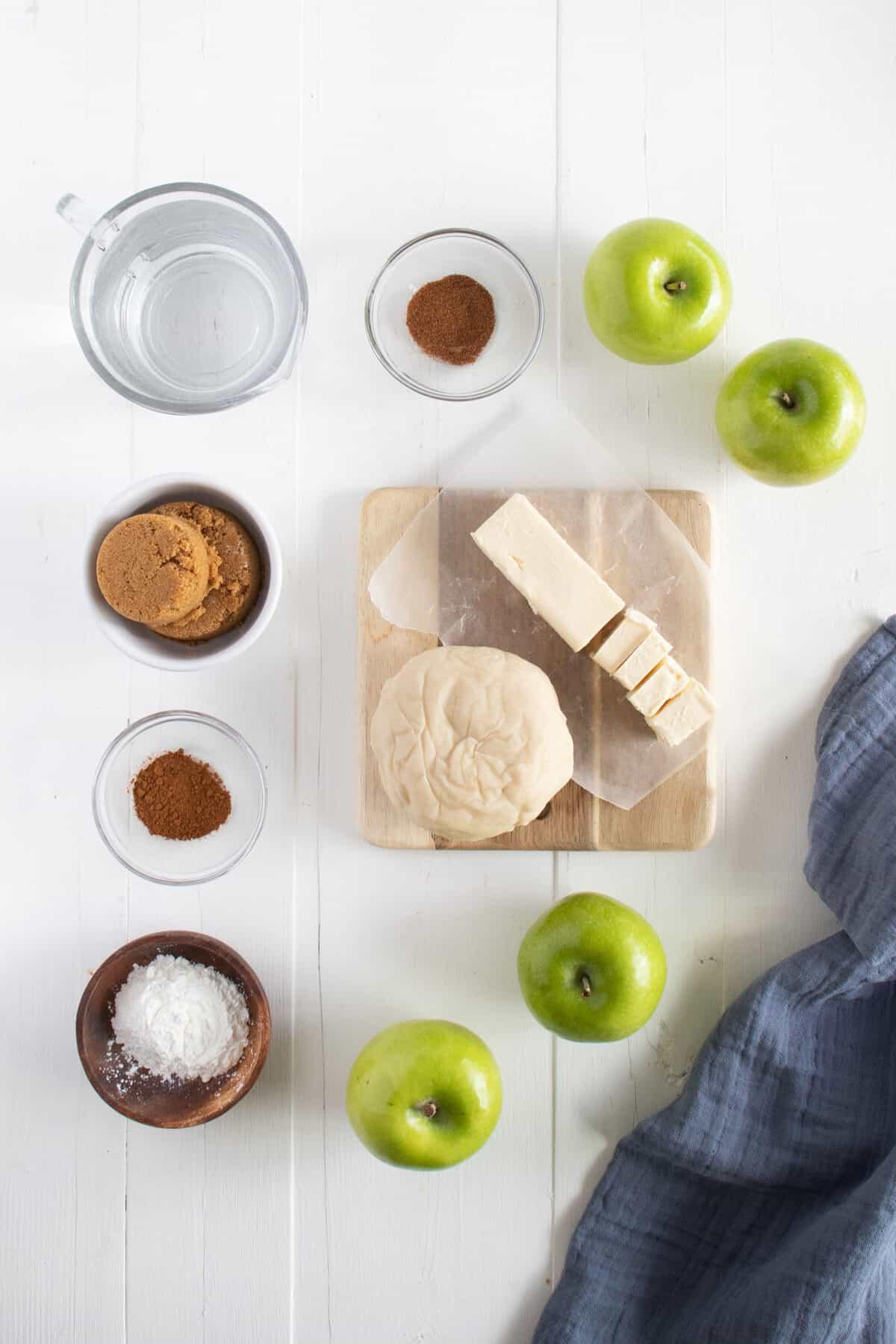 ingredients for apple dumplings