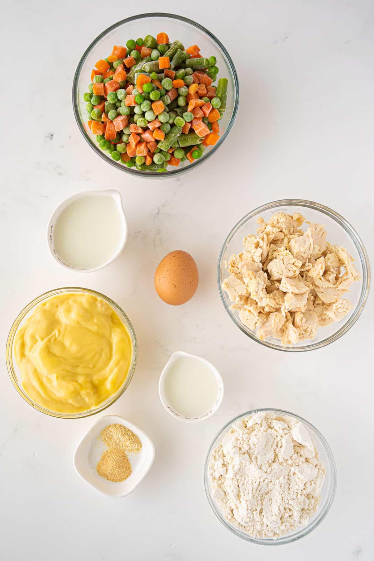 ingredients for Bisquick™ Chicken Pot Pie