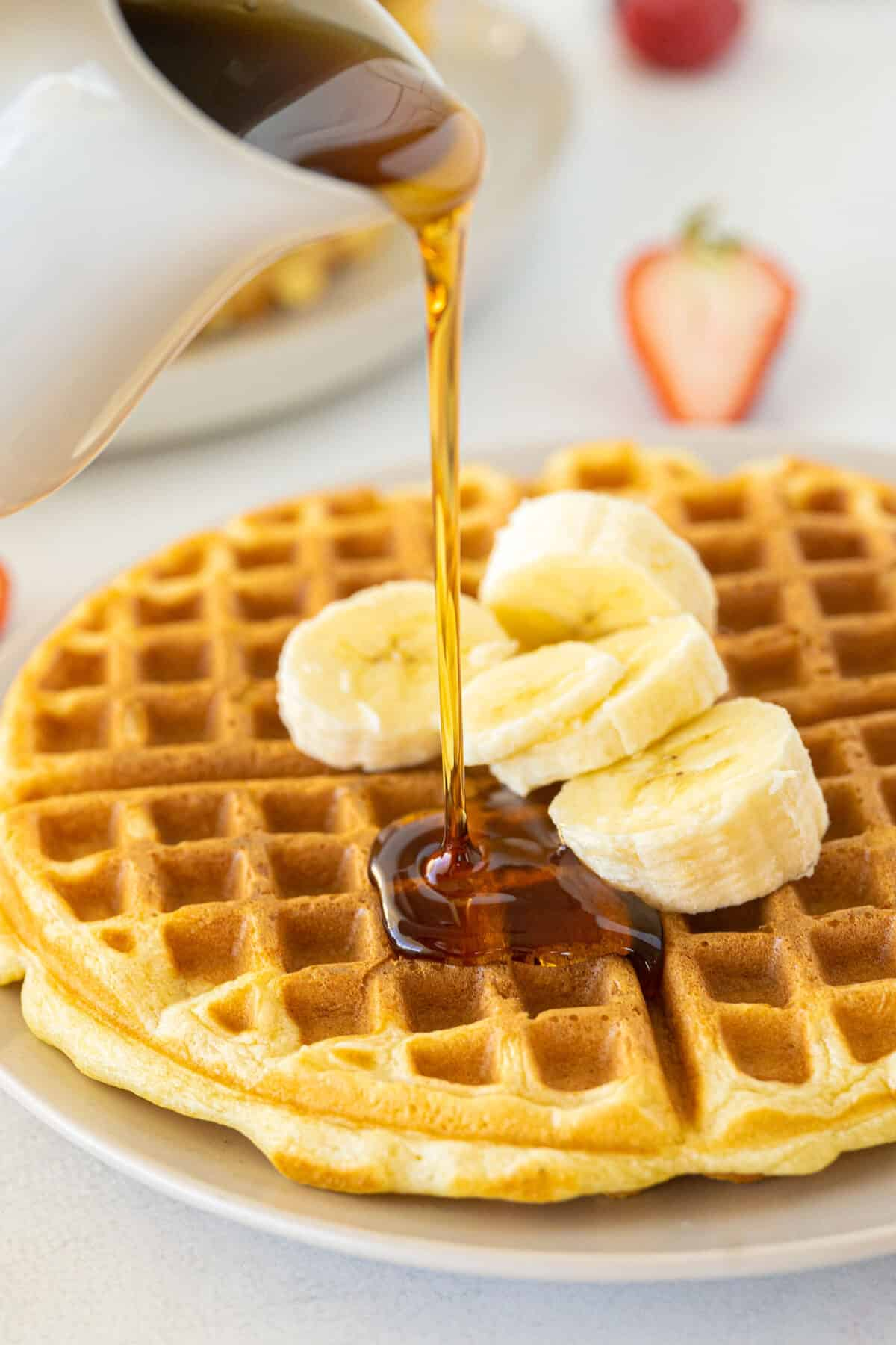 buttermilk waffles with syrup