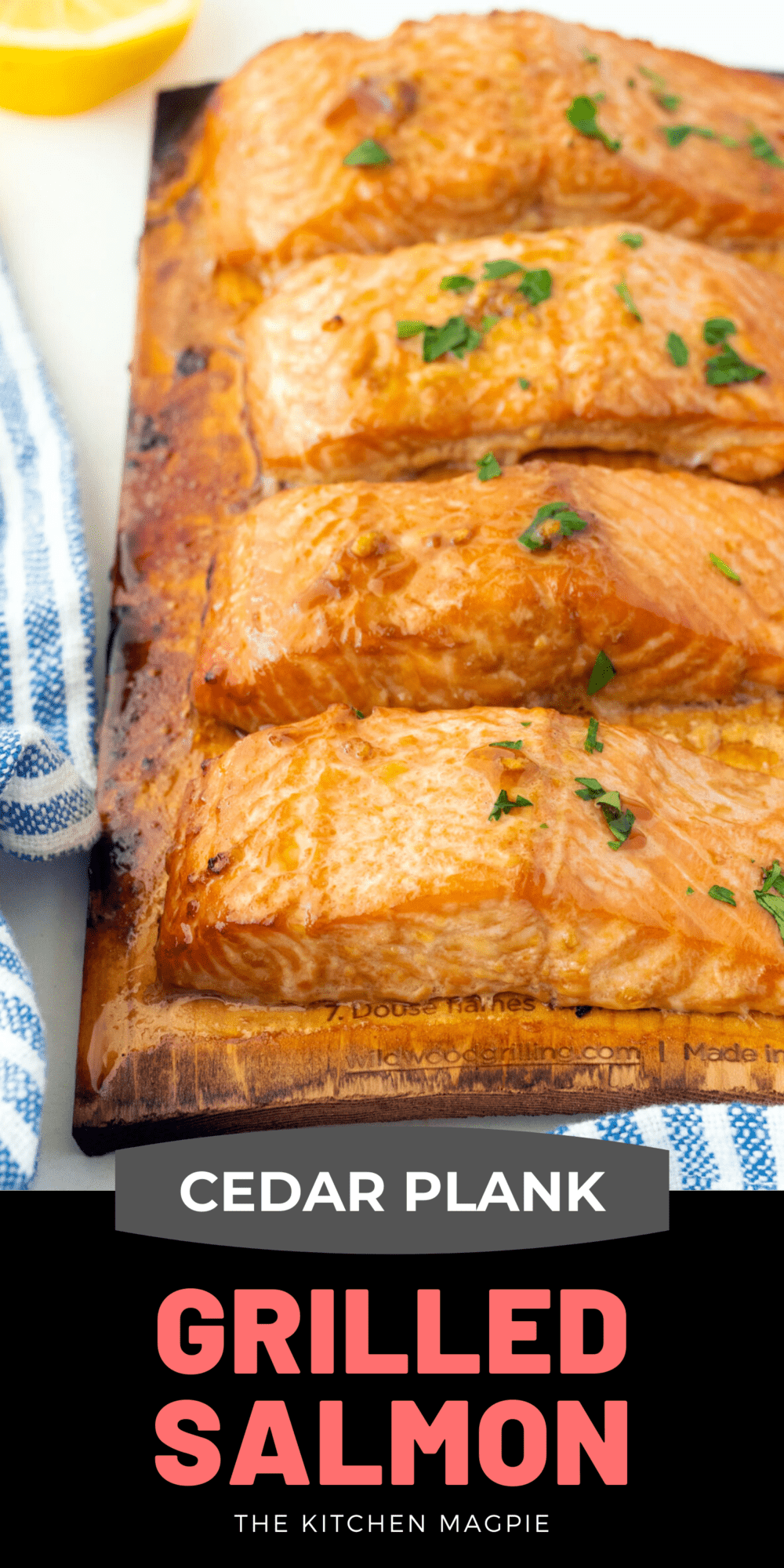 How to cook marinated salmon fillets to smokey, flakey perfection on cedar planks on your grill or BBQ. Perfect grilled salmon!