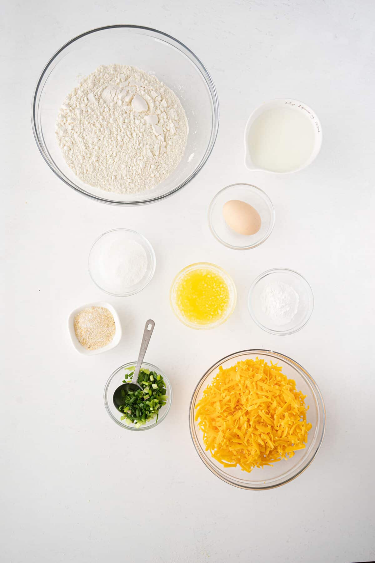 ingredients for cheese bread