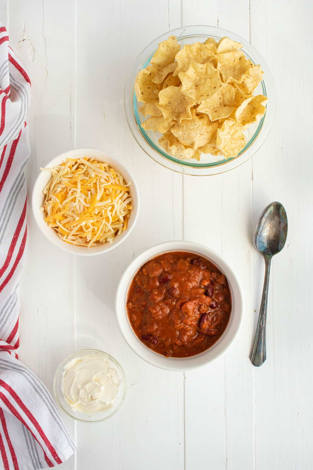 ingredients for chili cheese dip