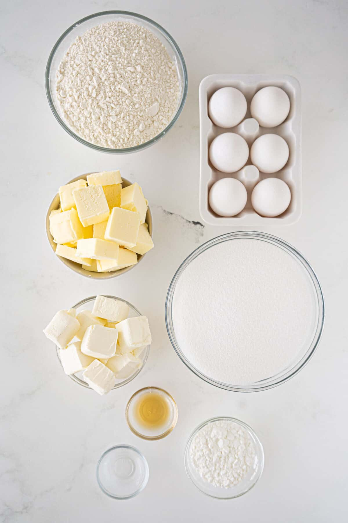 ingredients for cream cheese pound cake
