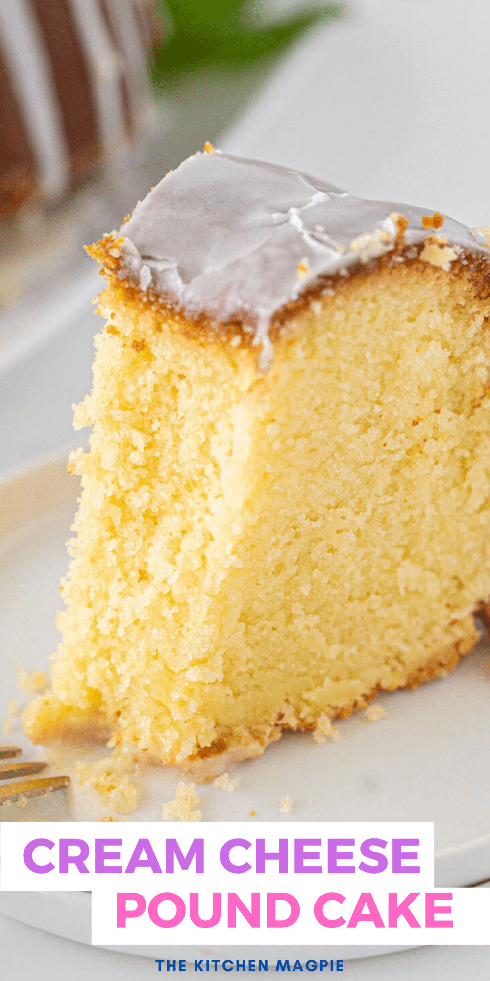 The classic cream cheese pound cake recipe was made for every church function when I was growing up! A delicious, dense pound cake made better with a cold start oven method!