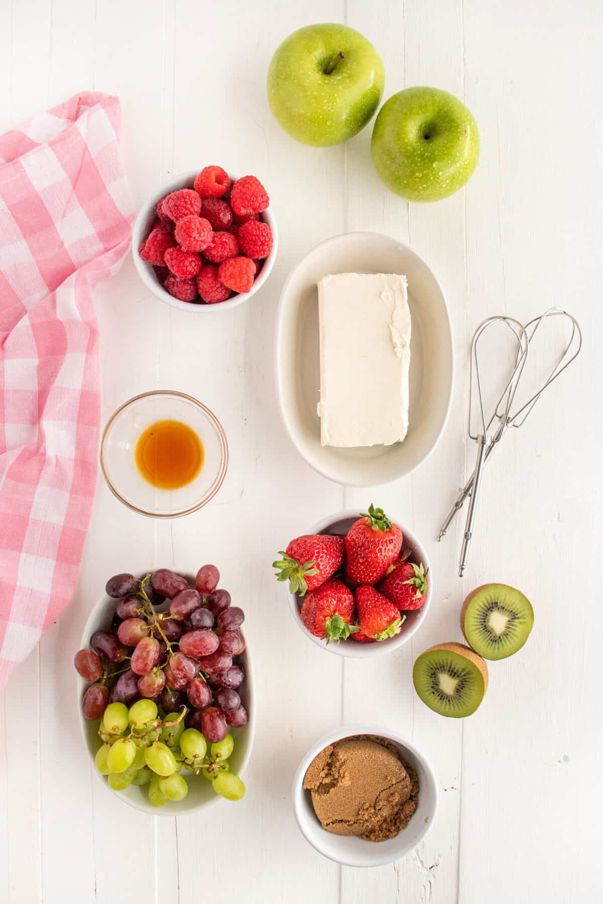 ingredients for fruit dip