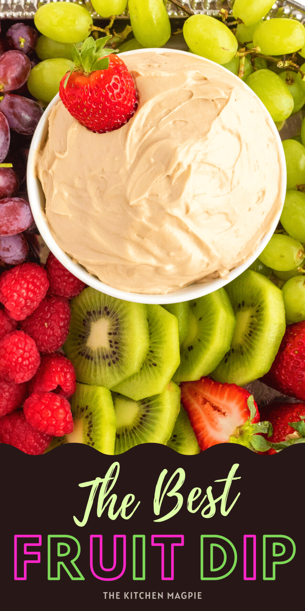 This delicious and easy classic fruit dip is brown sugar and cream cheese based, and is perfect served with a fruit tray or just as a side for fruit snacking!