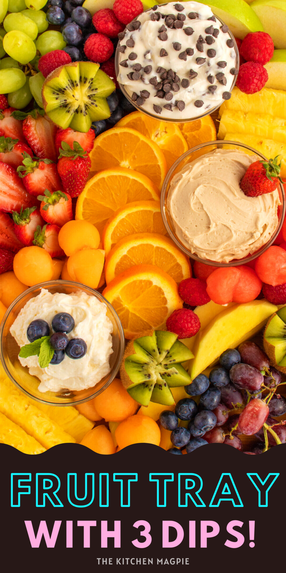 How to prepare fruit for a fresh fruit platter, and three delicious recipes for different fruit dips to serve on the platter.