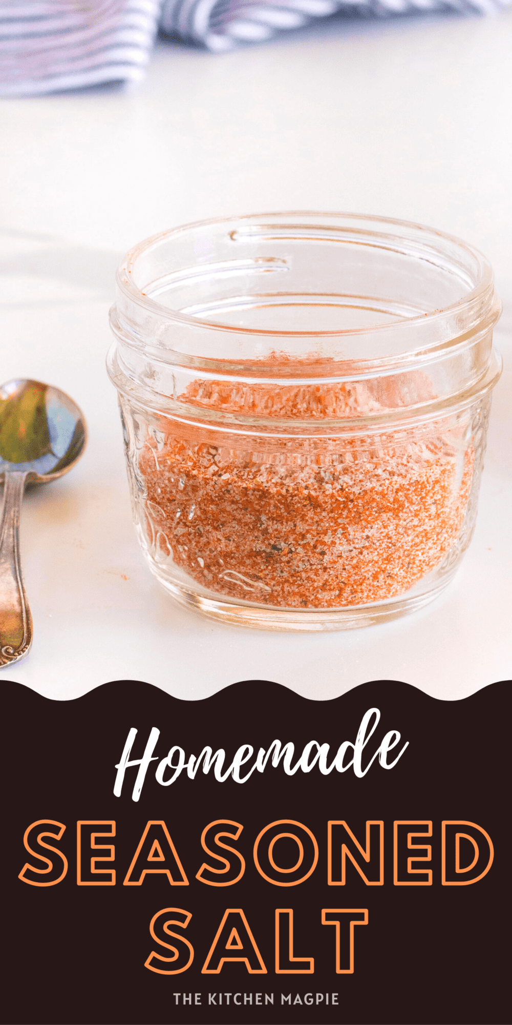 How to make homemade seasoned salt for those times that you can't get to the store! You can double this batch, and make sure to season to your personal preferences.