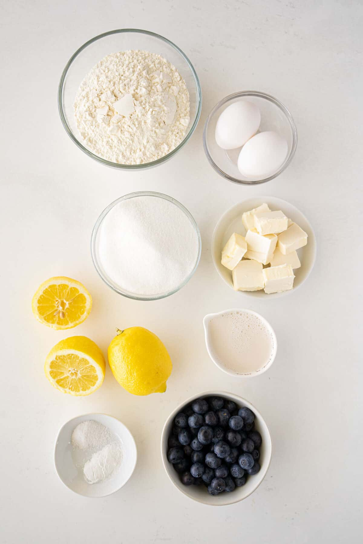 lemon blueberry bread ingredients