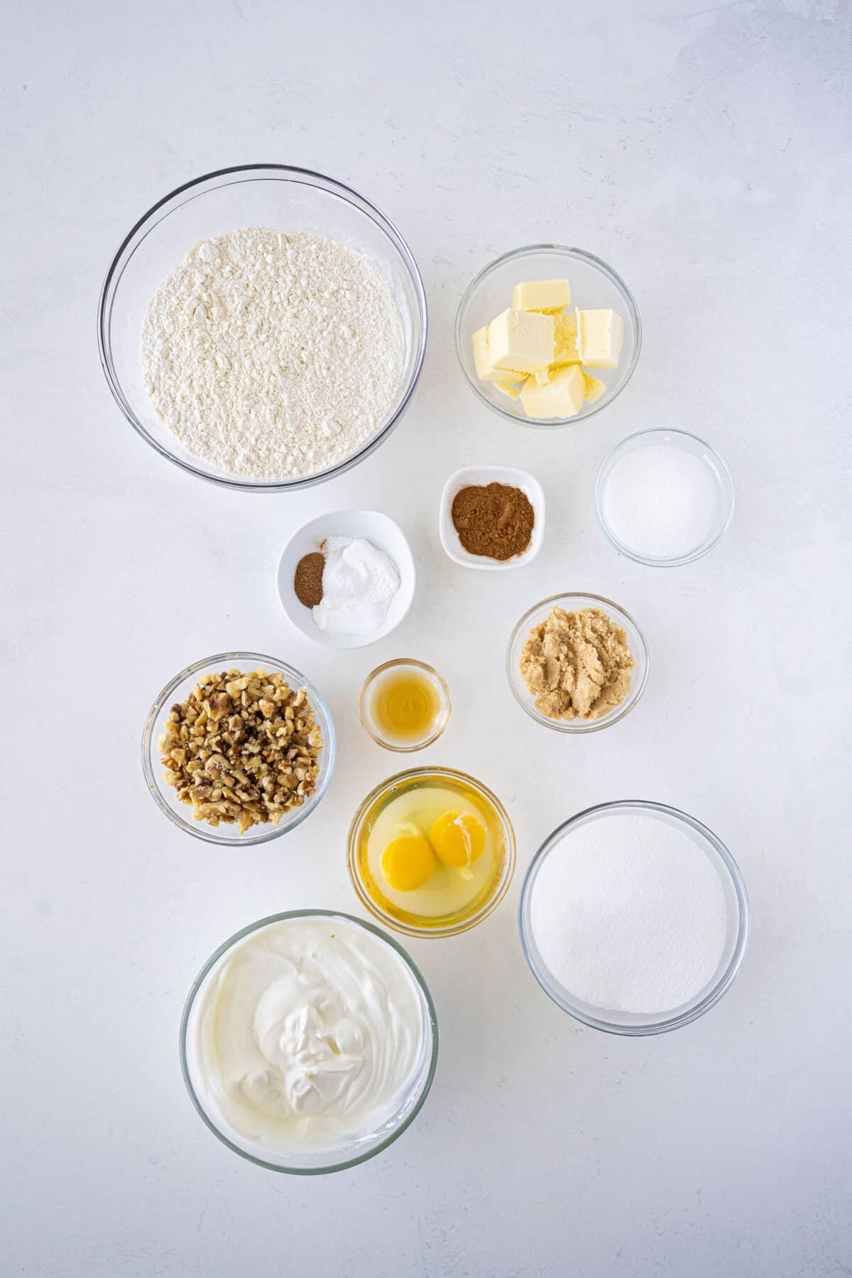 ingredients for sour cream coffee cake