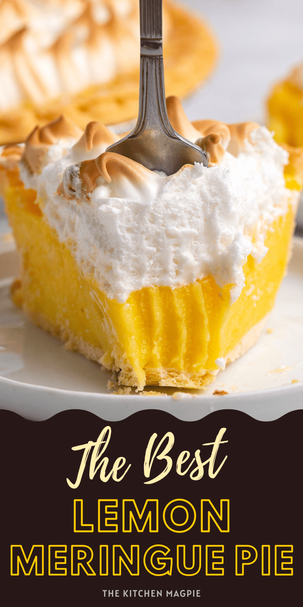 The perfect made from scratch lemon meringue pie recipe using real lemon, lots of butter & egg yolks to achieve a rich, very lemony pie!