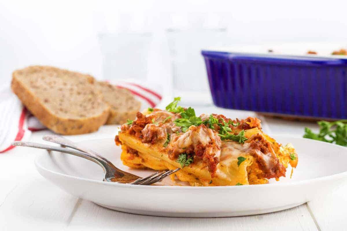 manicotti on a plate