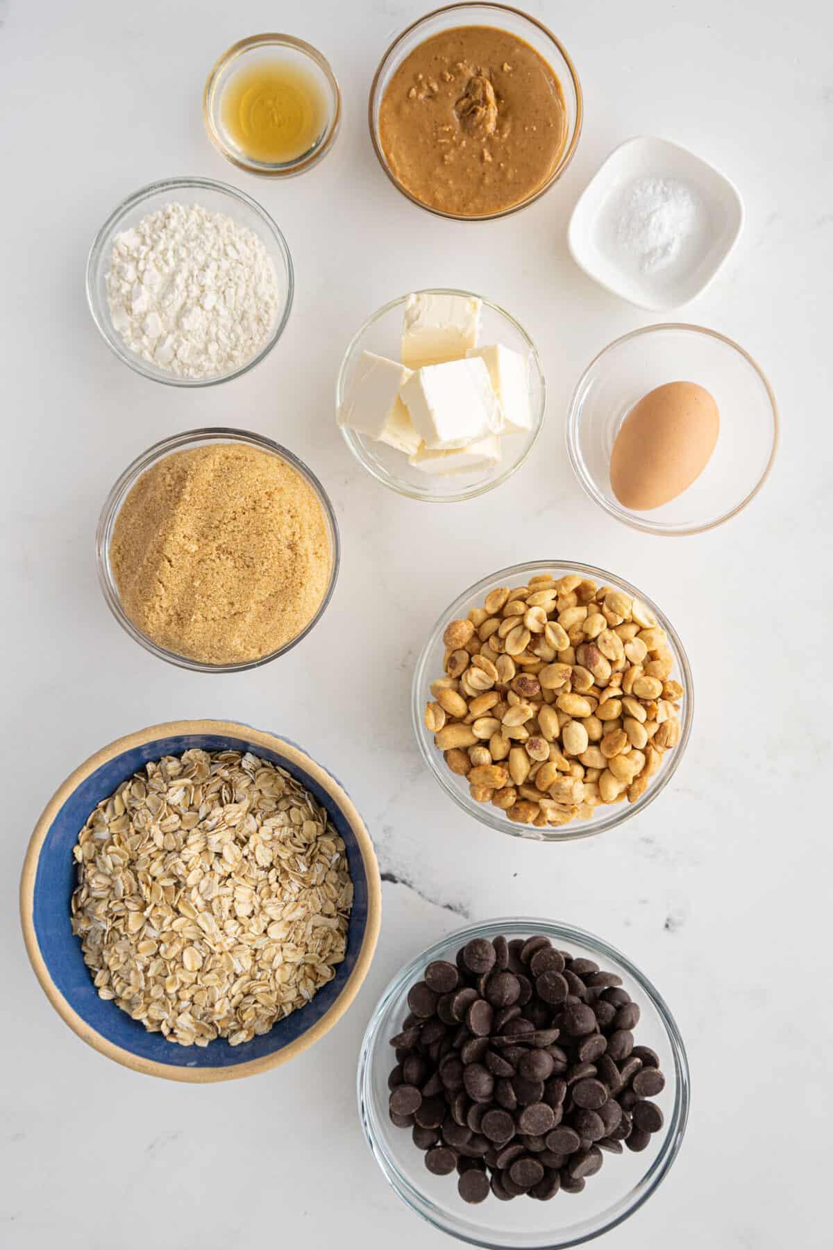 Peanut Butter Oatmeal Cookies ingredients