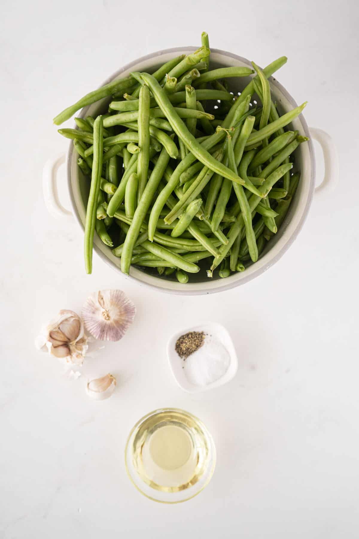 ingredients for roasted green beans