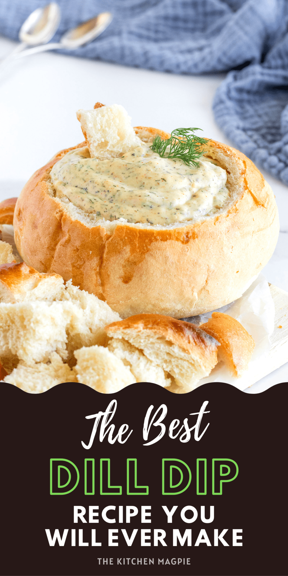 How to make homemade dill dip. This easy and fast recipe is the perfect base that you can customize to your own liking! (as a Ukrainian girl, I love to add more dill of course!)