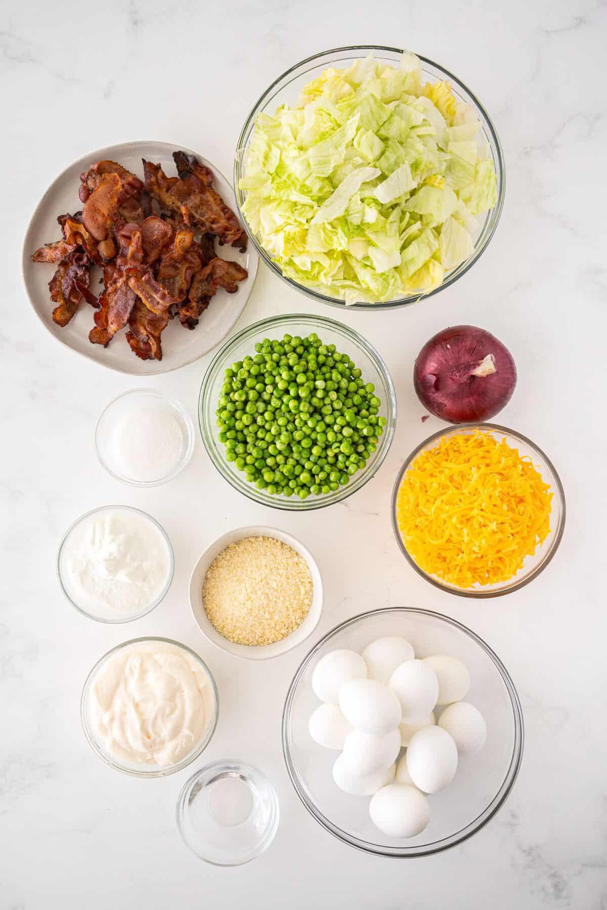 7 layer salad ingredients