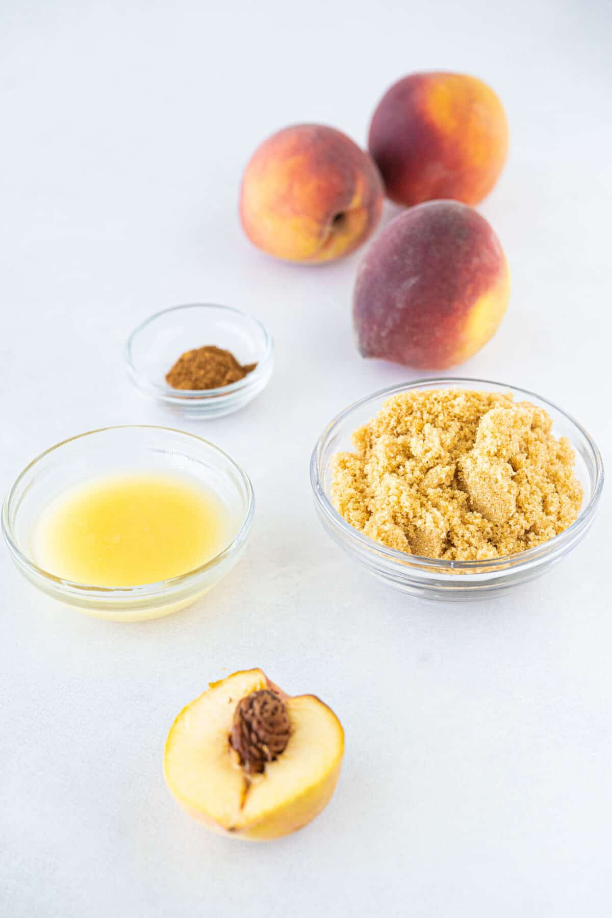 ingredients for gilled peaches