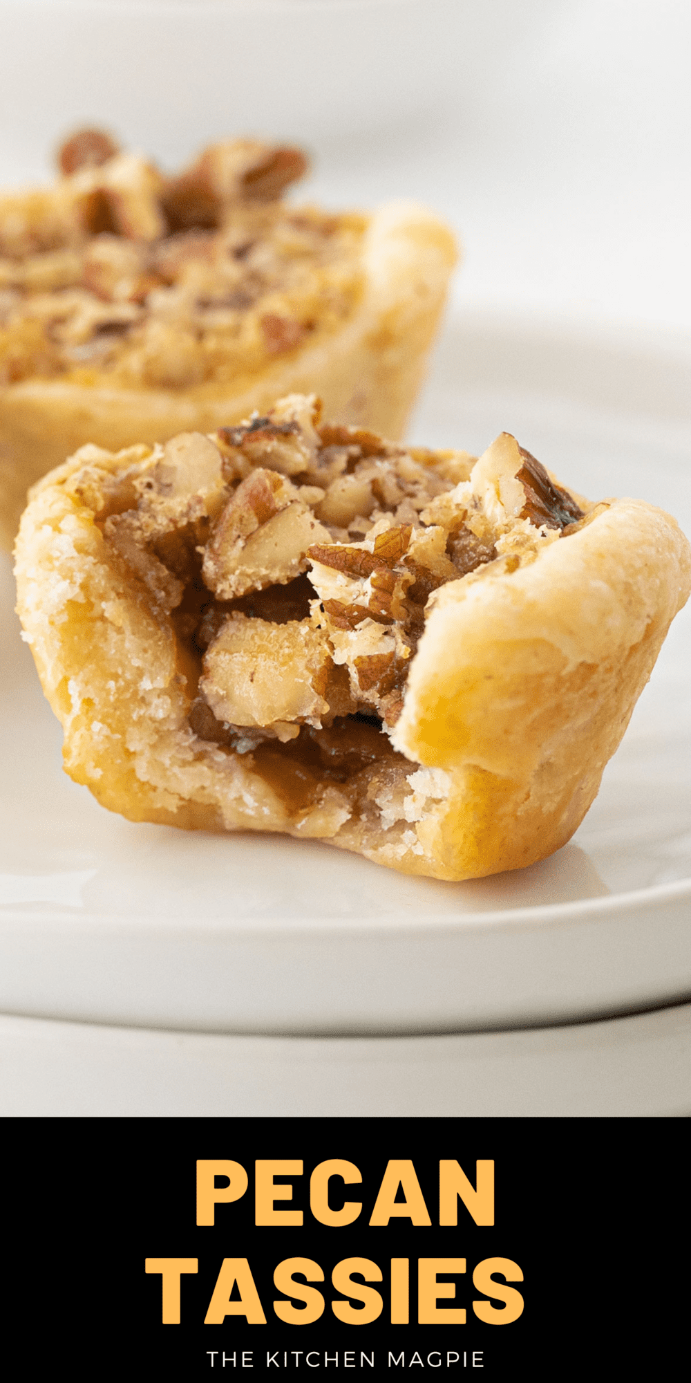 Pecan tassies are delicious little pecan tarts made with a cream cheese pastry and baked up with a syrupy brown sugar pecan filling!