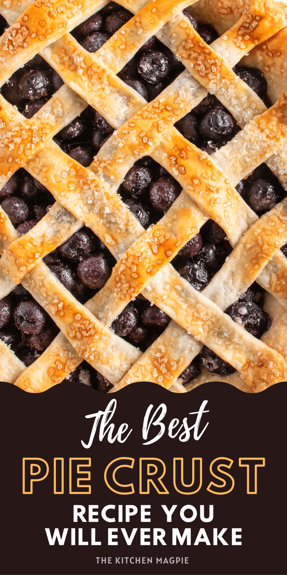 I have tried them all, and this truly is the best pie crust recipe! This is the only pie crust that my Grandma would use.