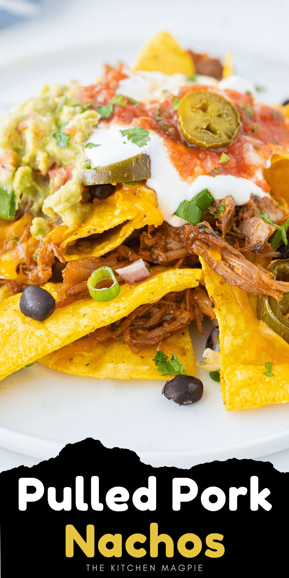 How to make pulled pork nachos, a great snack or appetizer, or make a platter of them and call it dinner for the family!