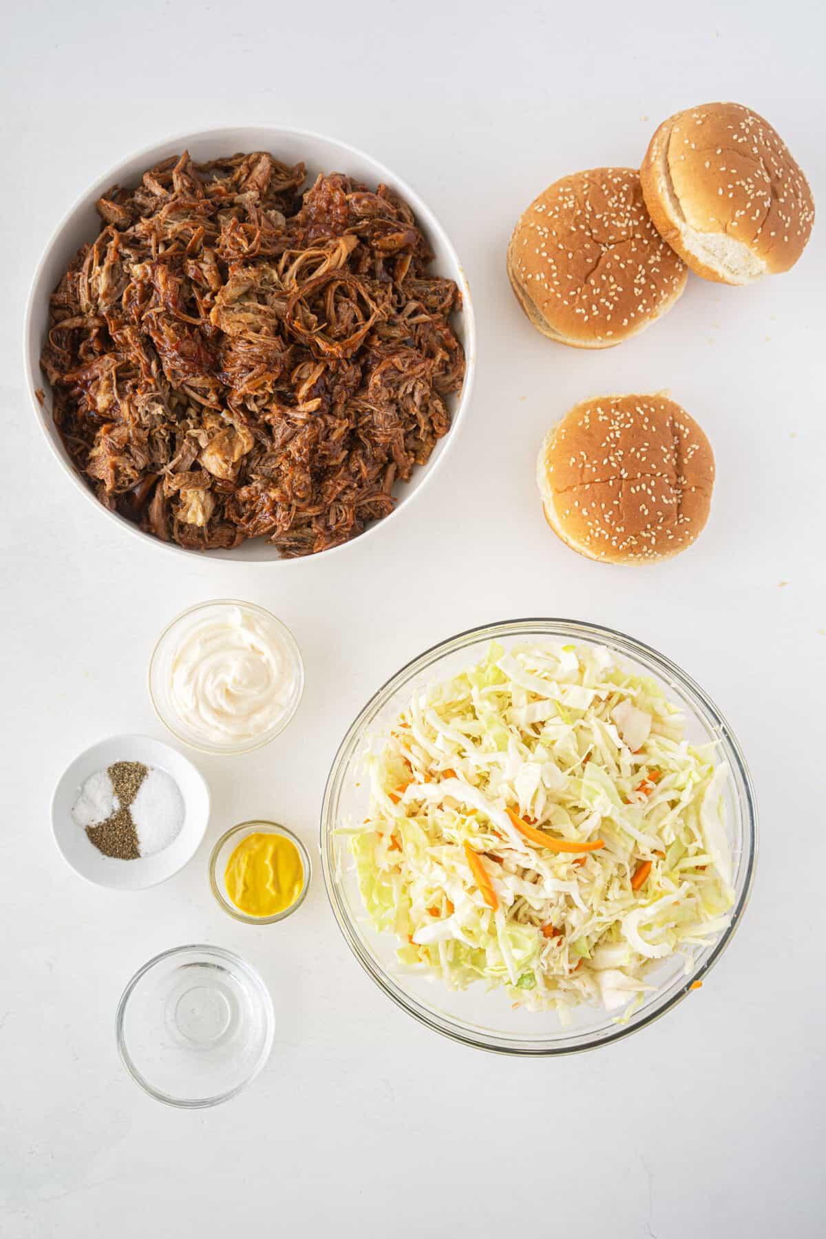 pulled pork sandwiches ingredients