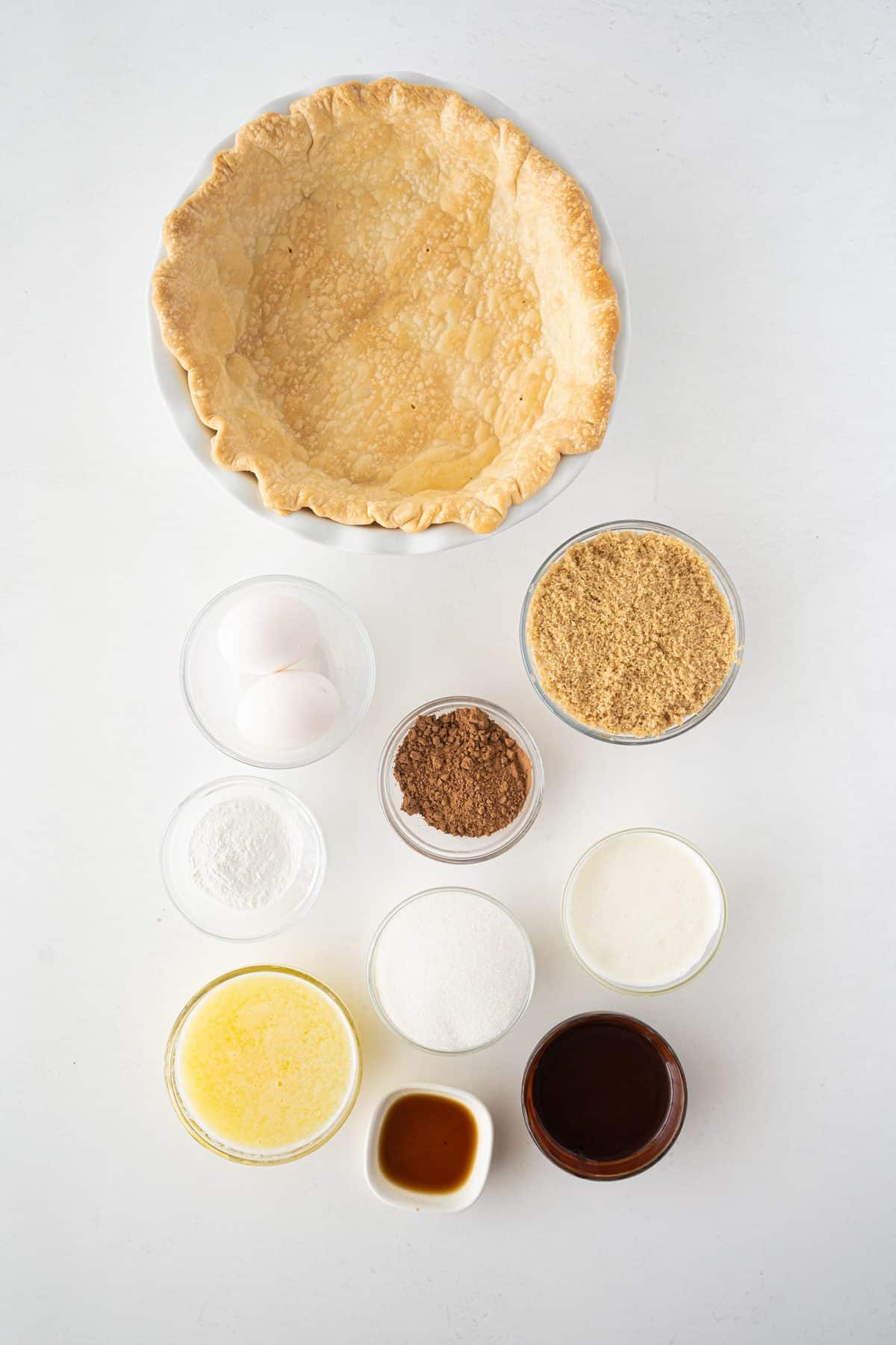 ingredients for chocolate chess pie