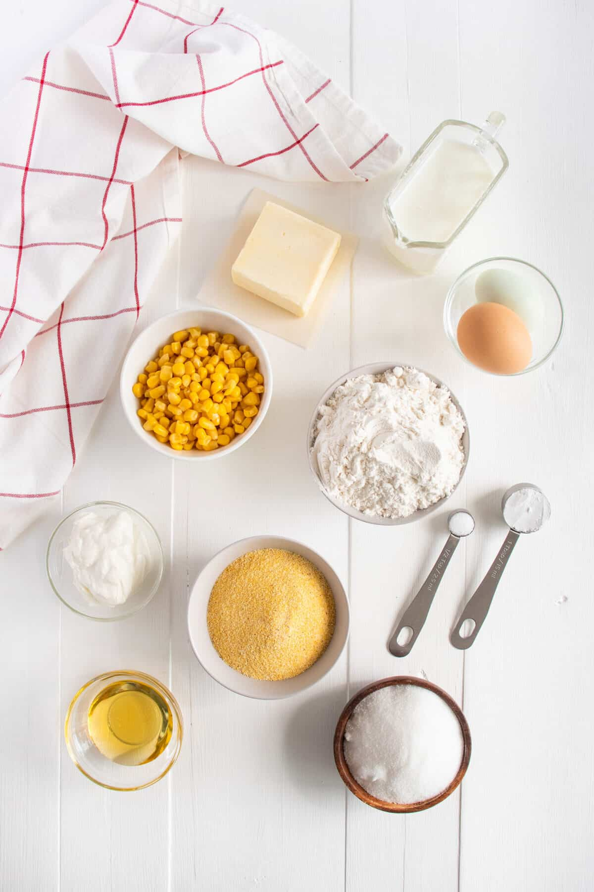 ingredients for cornbread muffins