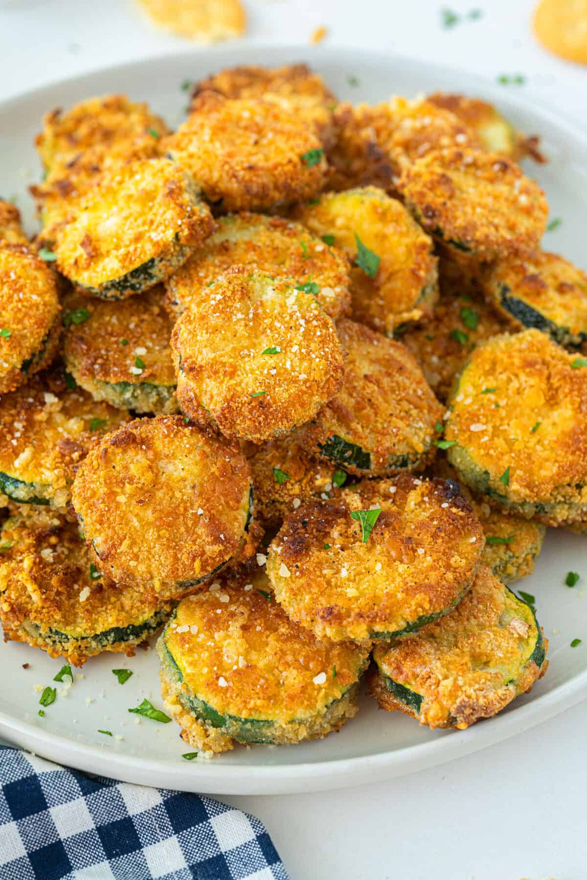 fried zucchini on a plate