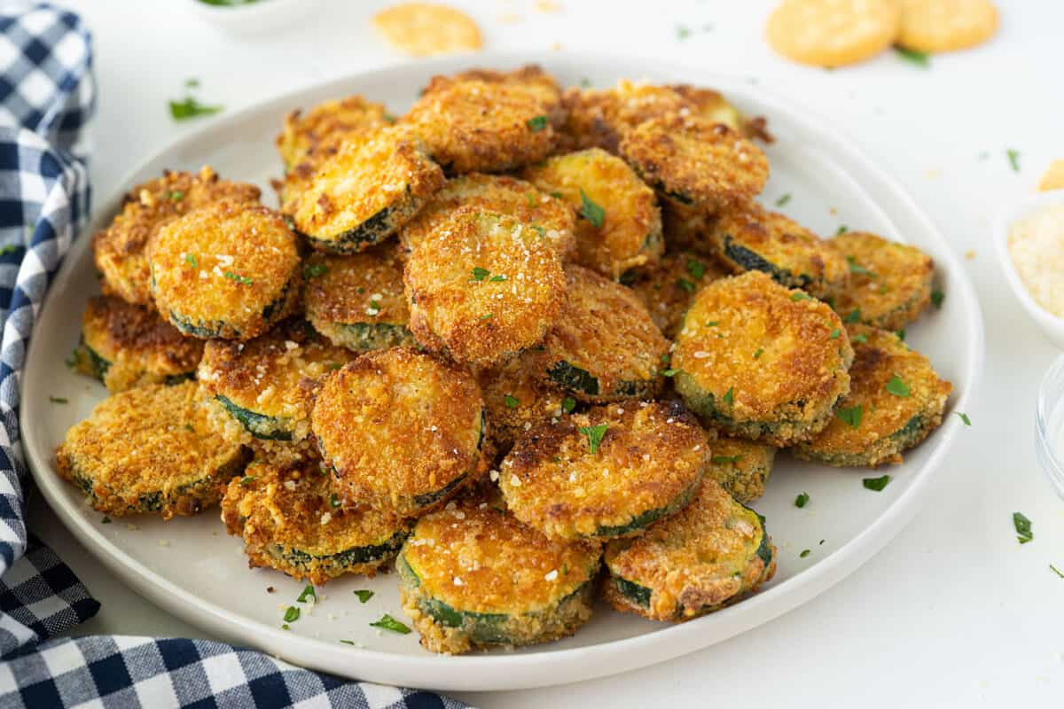 pile of pan fried zucchini