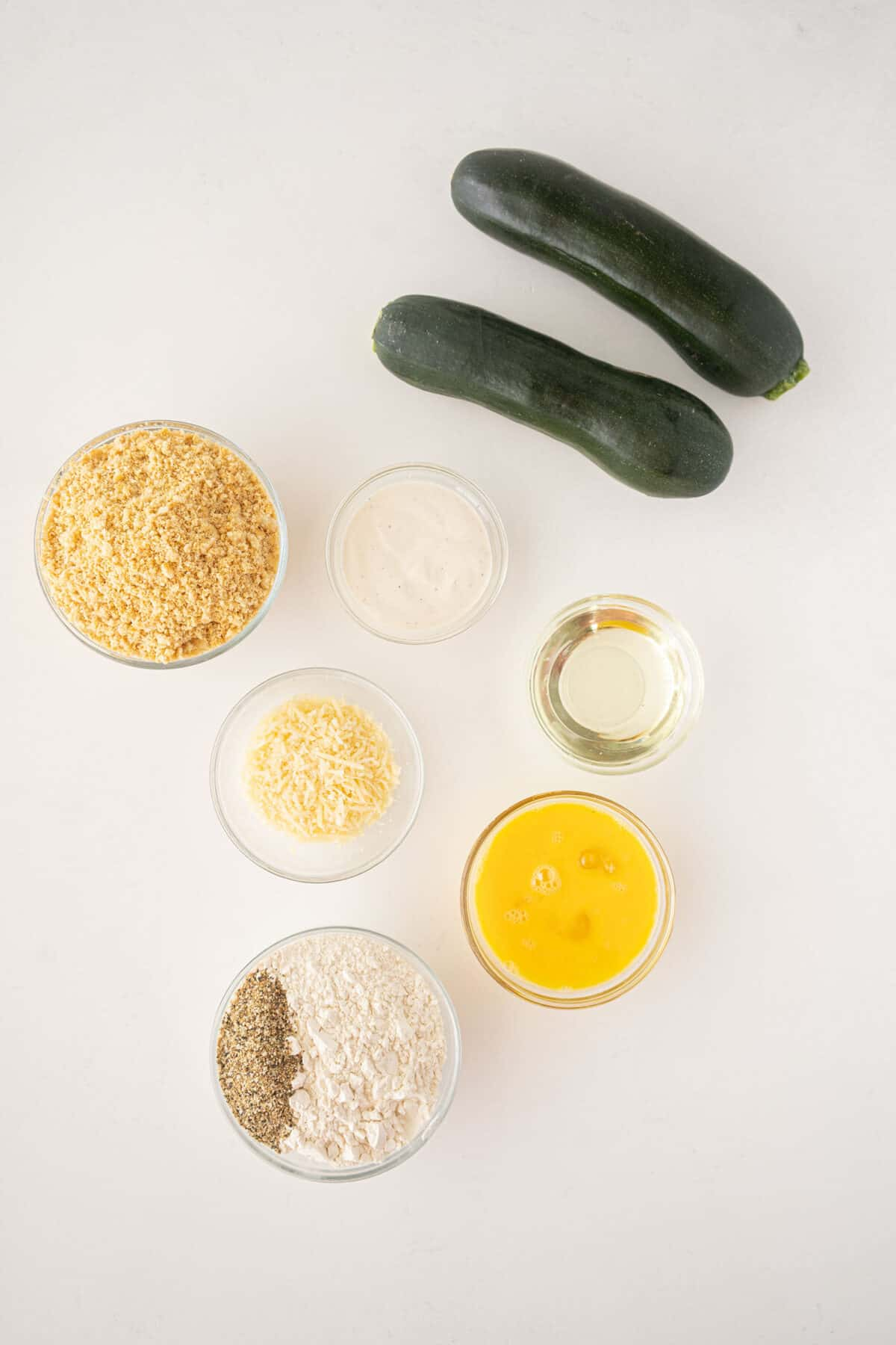 ingredients for fried zucchini