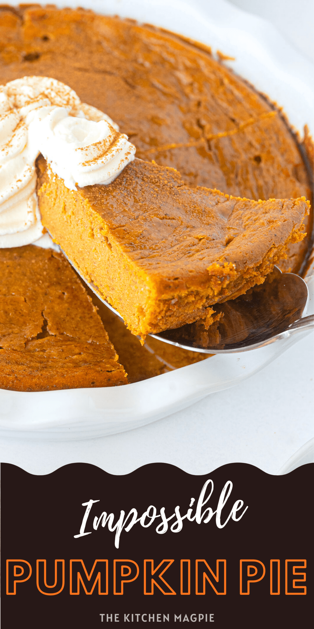 The classic Bisquick Impossible Pumpkin pie, the easiest pumpkin pie you will ever make!